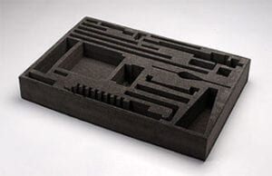 Custom waterjet foam cutting for box inserts