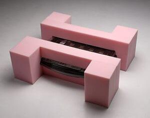 Custom cut foam insert made of anti-static polyethylene