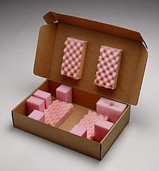 Foam box insert made of both anti-static polyethylene and polyurethane