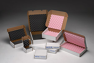 Foam shippers are convoluted foam-lined boxes in anti-static and polyurethane foam.