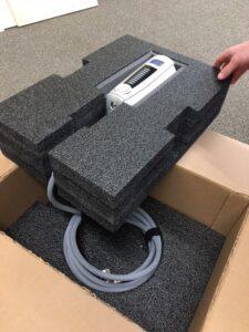 Custom foam box insert for medical device