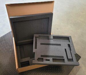 Custom foam insert for protecting medical equipment in shipment